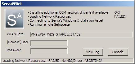 Serva PXE/BINL - AN01: Windows Network Install