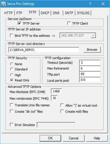 Serva - Advanced Topics on TFTP